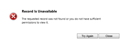 Record is Unavailable error opening attachments in Notes - Dynamics CRM