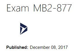 MB2-877 exam study tips - Dynamics 365 for Field Service