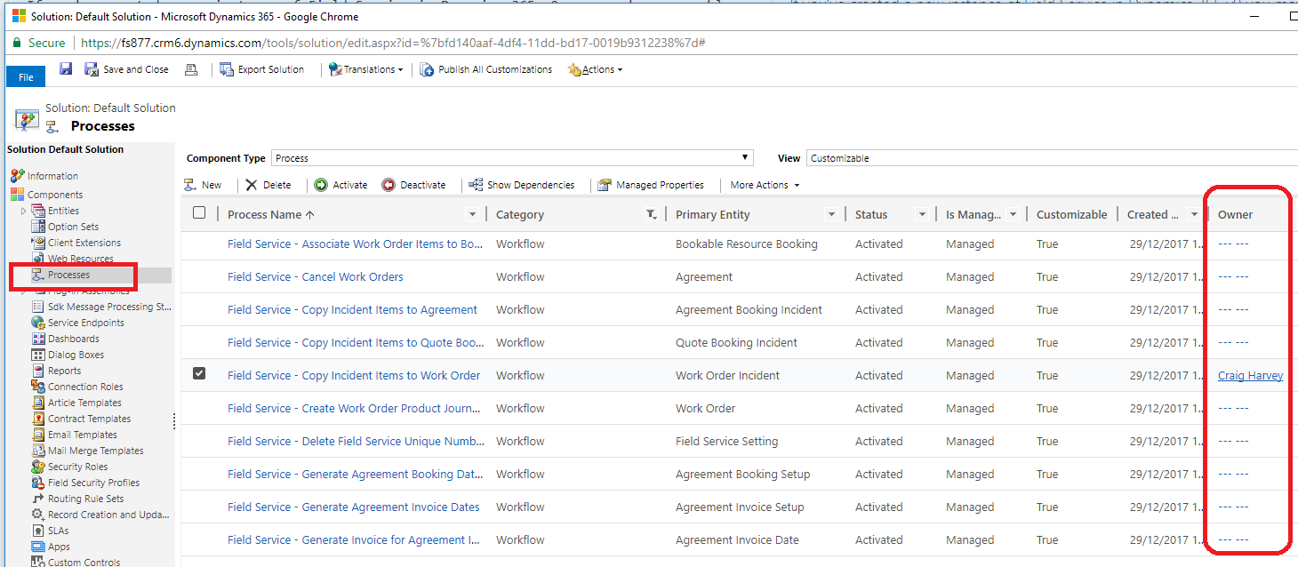 Dynamics 365 Field Service Tasks not auto-populating from